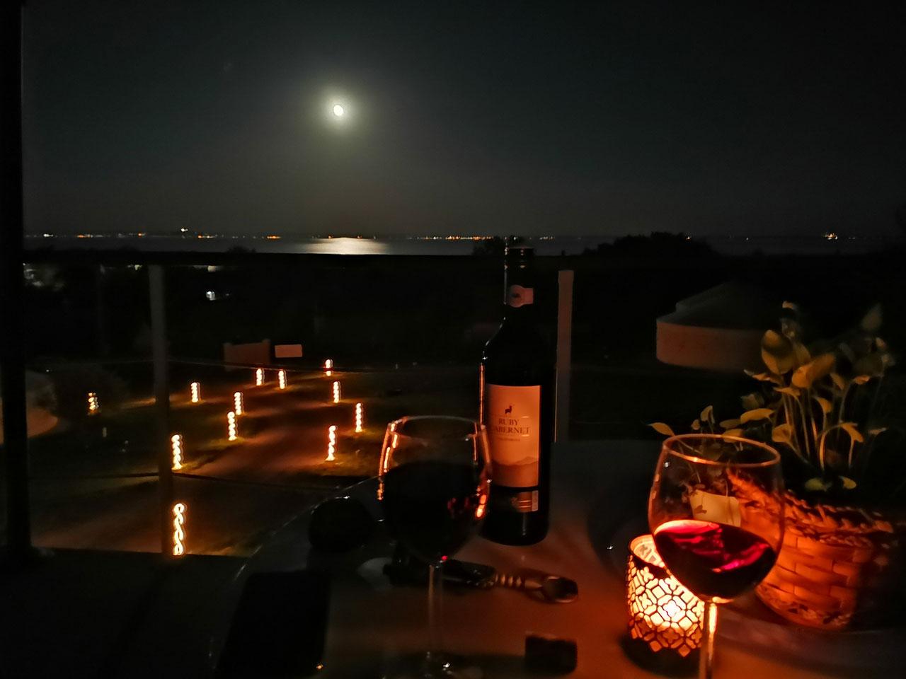 Jurta hotel Balatongyörök Galéria Éjszaka 1