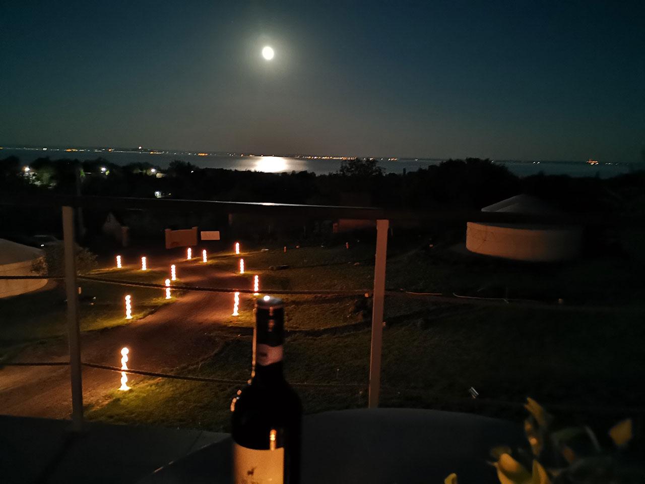 Jurta hotel Balatongyörök Galéria Éjszaka 2