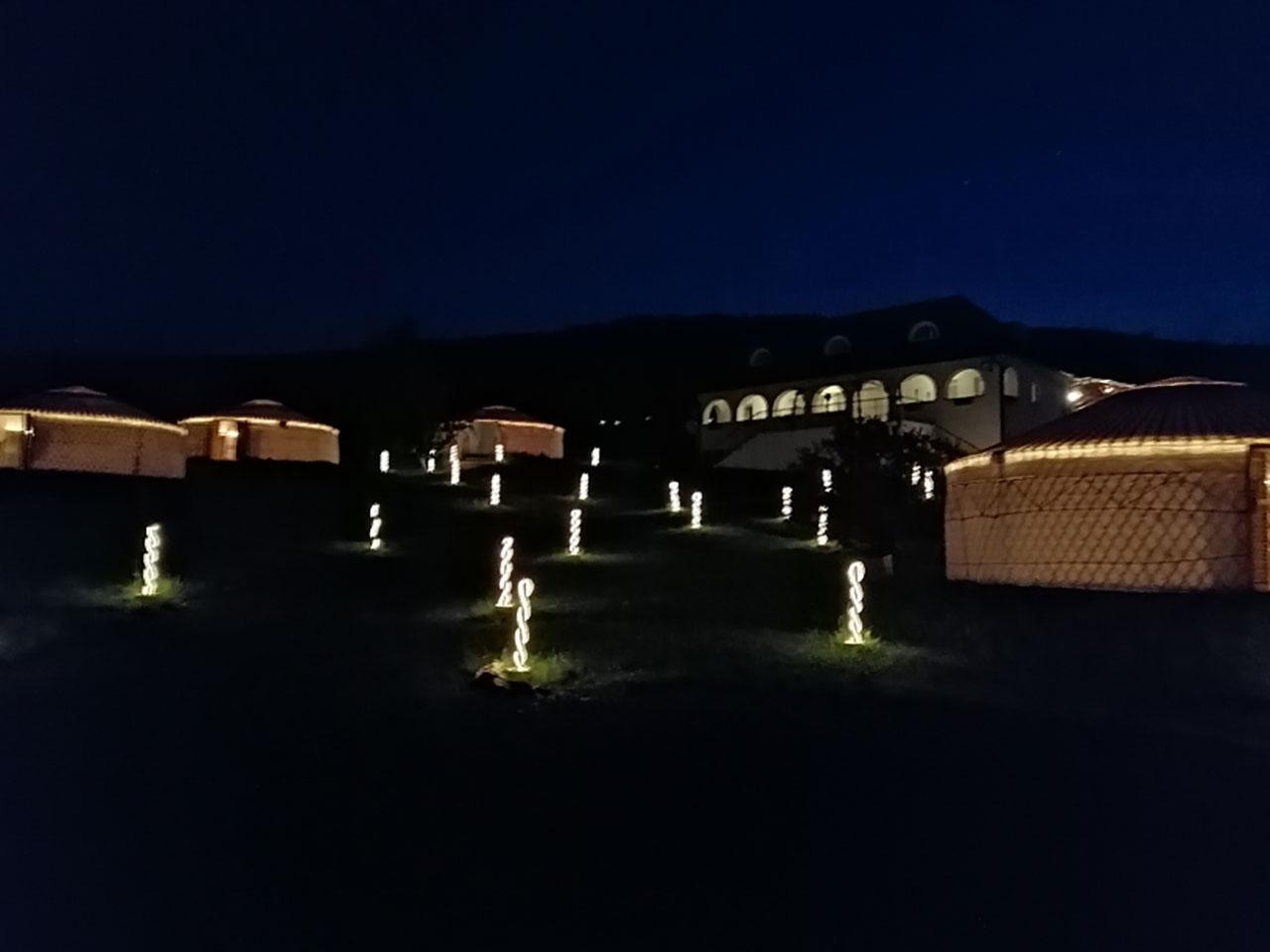 Jurta hotel Balatongyörök Galéria Éjszaka 4